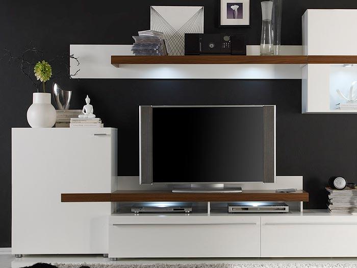 Wohnwand Buche Weiß Modern ~ Raum und Möbeldesign Inspiration
